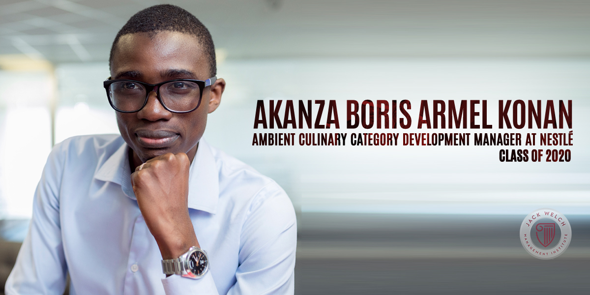 Akanza Boris Armel Konan, Jack Welch MBA