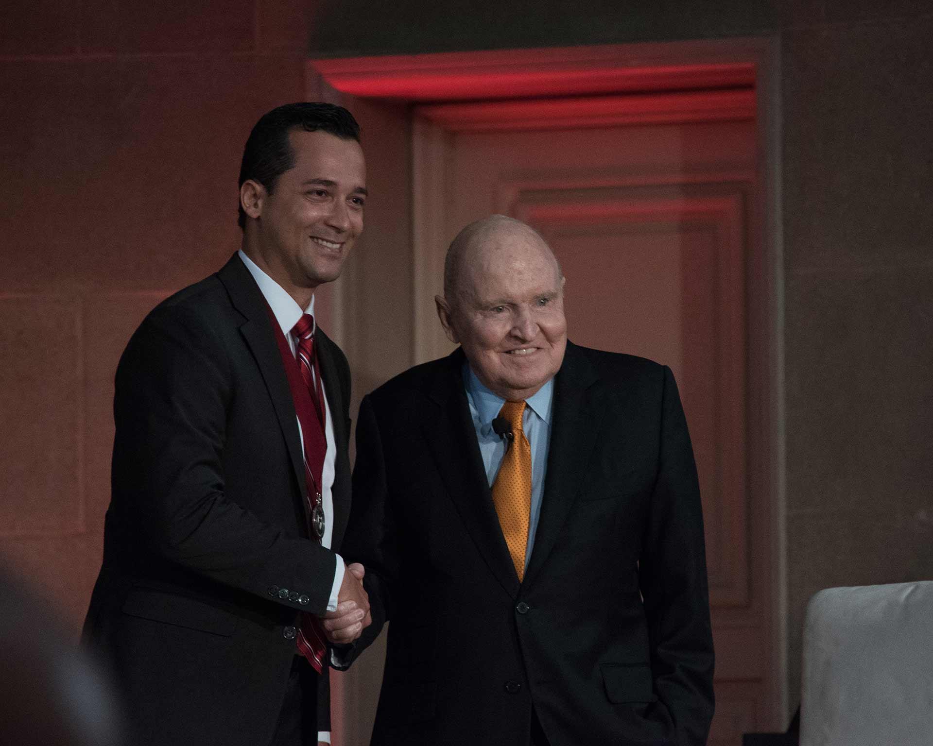 Luis Ferreira and Jack Welch